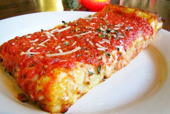 "<b>Sicilian</b>    <a href=""http://losangeles.menupages.com/restaurants/pizzanista!/"">Pizzanista!</a>    <i>Los Angeles</i>  Angelenos seeking the rather lo-fi pleasures of an East Coast–style Sicilian slice need look no further than this Downtown newcomer, where a dense, crunchy sourdough crust is spread with herb-spiked sauce atop an elongated rectangle blanketed in slightly charred cheese."