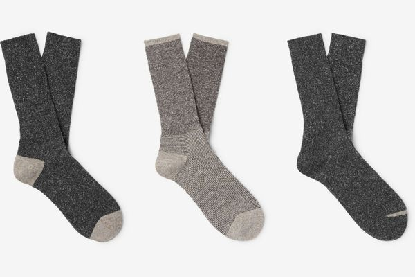 Anonymous Ism Three-pack Mélange Knitted Socks