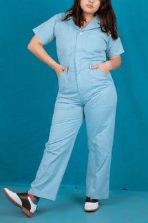 Big Bud Press Short Sleeve Jumpsuit, Baby Blue