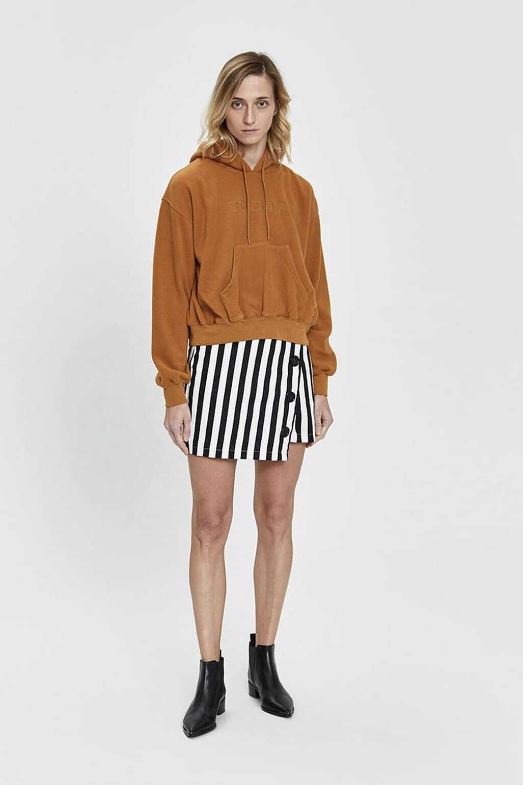 Stelen Abi Bold Stripe Mini Skirt
