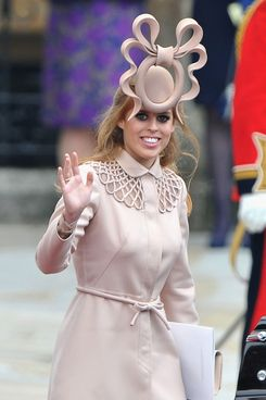 Princess Beatrice at the royal wedding.