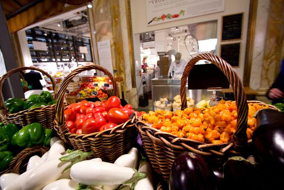 Eataly's fruit and vegetables, front and center.