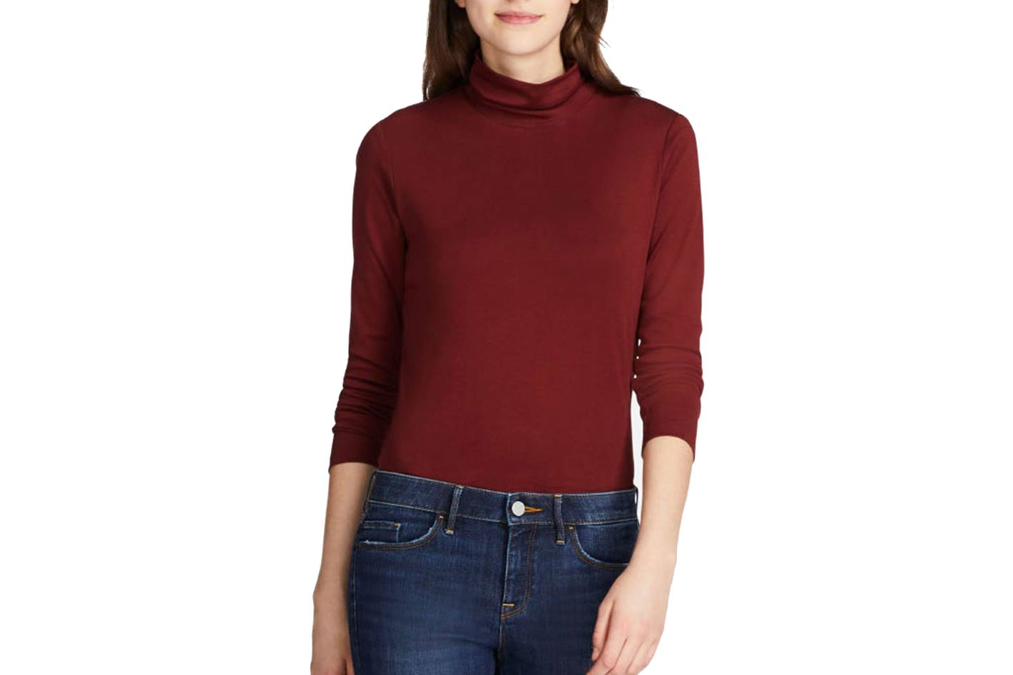 56efc539c59f6 Uniqlo Women s Supima Cotton Long-Sleeve Turtleneck