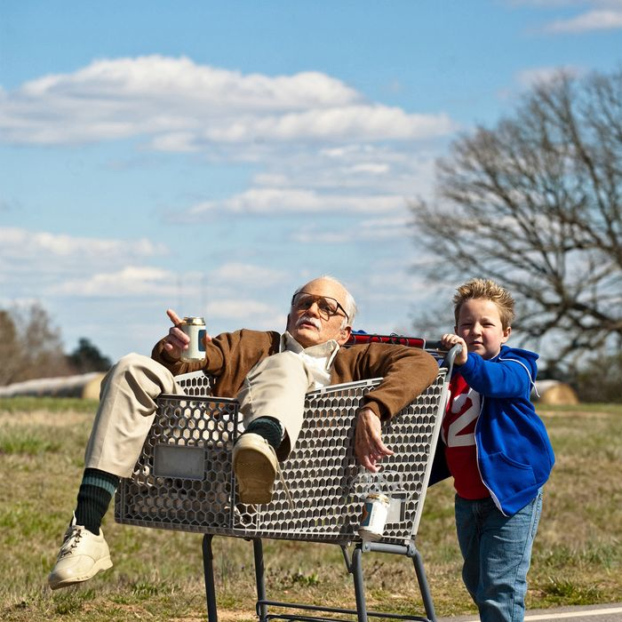 Johnny Knoxville is Irving Zisman and Jackson Nicoll is Billy in JACKASS PRESENTS: BAD GRANDPA
