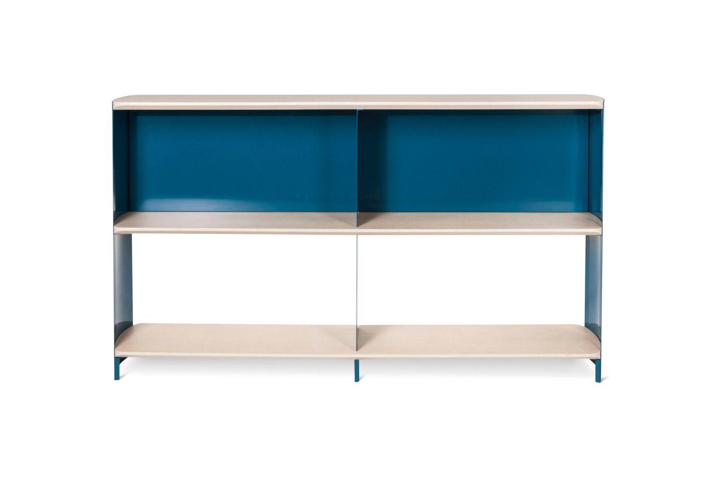 Modern by Dwell Magazine Bookshelf Wide Blue/Natural