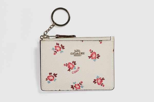 Coach Mini Skinny ID Case With Floral Bloom Print