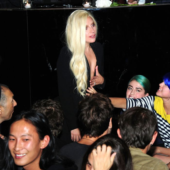 Lady Gaga at Brandon Maxwell's debut show.