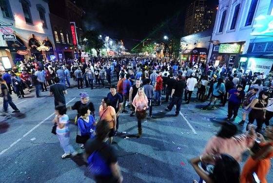 A general view of 6th Street during the 2012 SXSW Music, Film + Interactive Festival on March 16, 2012 in Austin, Texas.