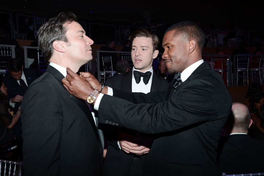 Jimmy Fallon, Justin Timberlake, Frank Ocean==TIME 100 GALA: TIME'S 100 MOST INFLUENTIAL PEOPLE IN THE WORLD==Jazz at Lincoln Center, NYC==April 23, 2013==