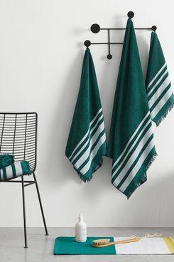 Maringa 100% Cotton Set of 2 Hand Towels, Storm Green