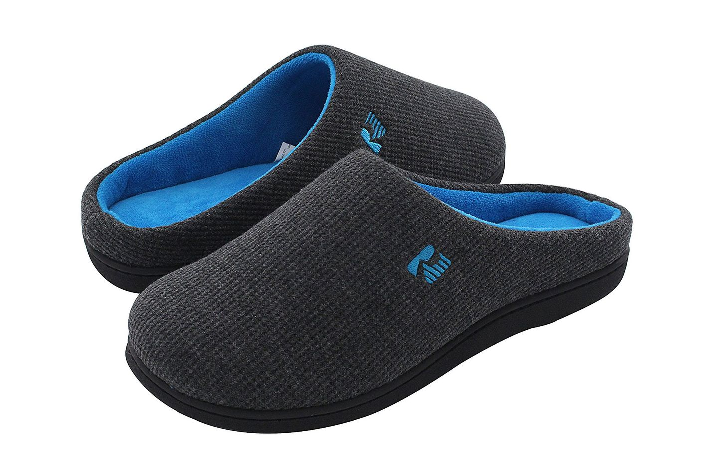 RockDove Two-Tone Memory Foam Warm House Slippers