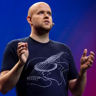 Spotify Chief Content Officer Ken Parks News Conference