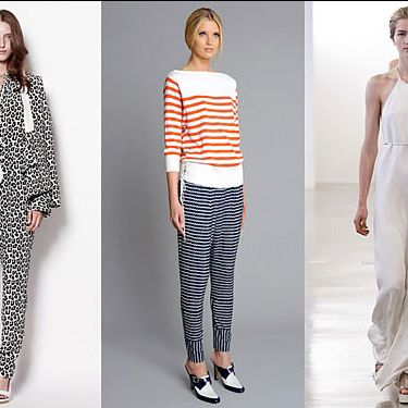 From left: new resort looks from 3.1 Phillip Lim, Rachel Roy, and Calvin Klein.