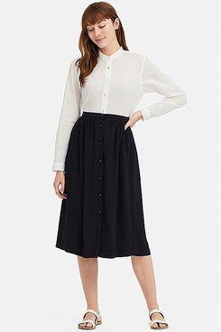 Uniqlo x Ines de la Fressange Cotton Lawn Long Sleeve Shirt