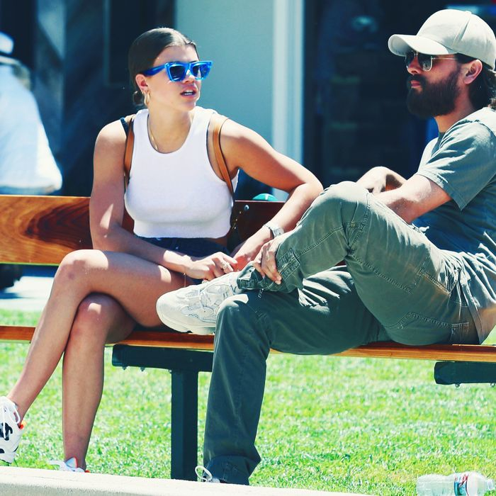 Sophia Richie and Scott Disick.
