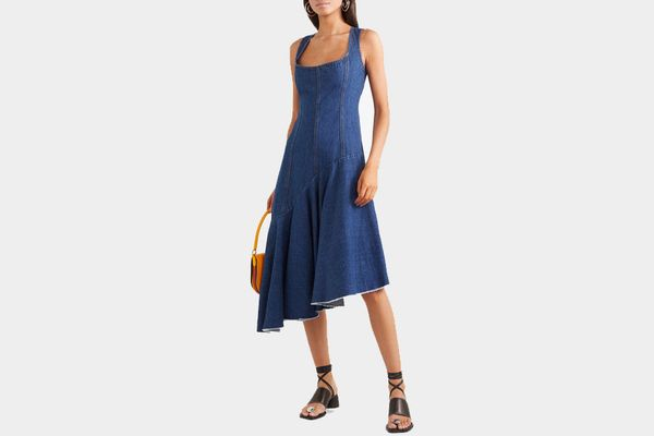 Solace London Lewis Asymmetric Denim Dress
