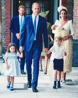 Princess Charlotte, Prince William, Prince George, Kate Middleton and Prince Louis.