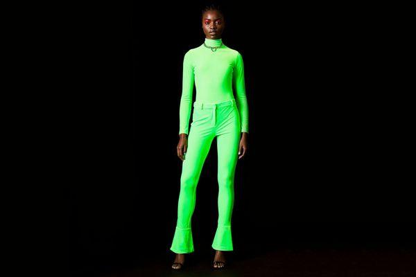 Velvet Bodysuit by Topshop x Halpern
