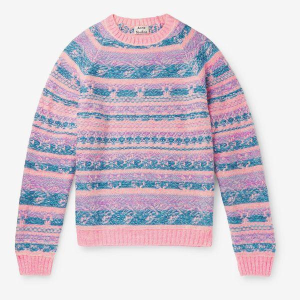 Acne Studios Karlos Fair Isle Jacquard Sweater