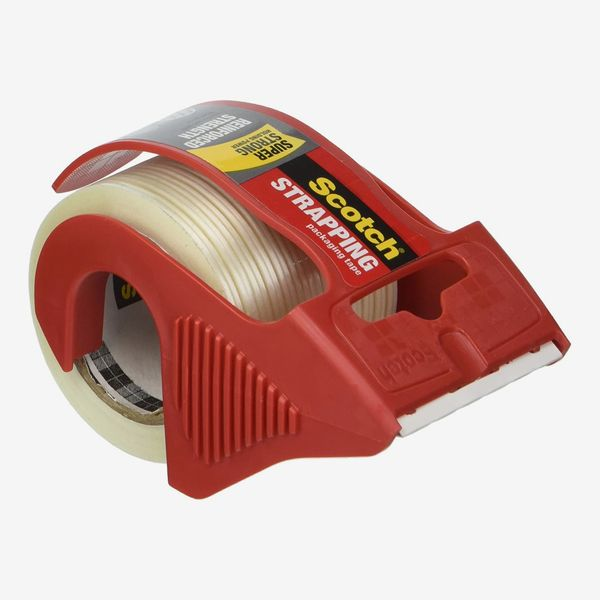 Scotch MMM50 Reinforced Strength Shipping Tape, Red