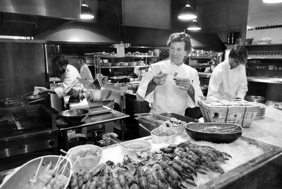 Jeremiah Tower, prawn star, 1984.