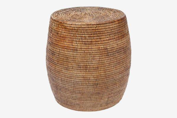 Kouboo La Jolla Round Handwoven Rattan Stool