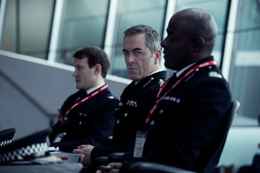 "L to R, Jonny Sweet, James Nesbitt and Paterson Joseph - in the SundanceTV original series ""Babylon"" - Photo Credit: Dean Rogers"