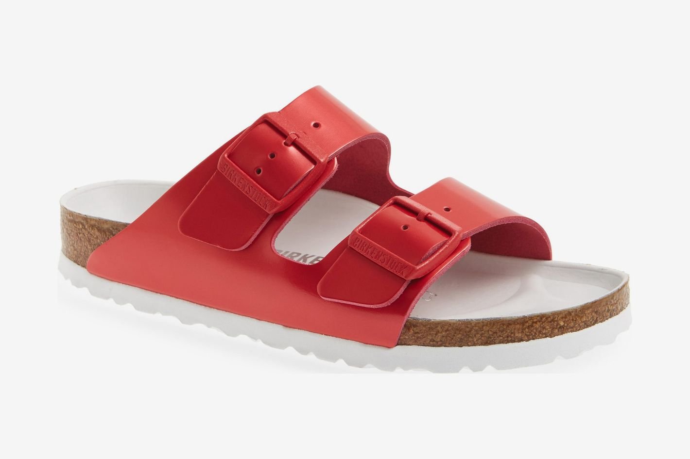 4926c8145223 Birkenstock Arizona Hex Limited Edition Shock Drop Slide Sandal Red  Spectacular Leather