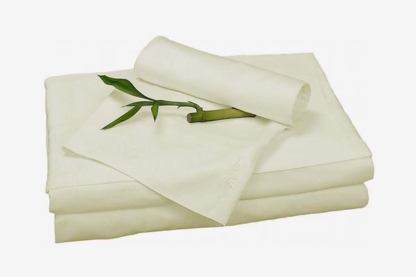 BedVoyage Bamboo Rayon Sheet Set (Queen, Ivory)