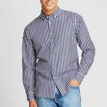 Uniqlo Men Extra Fine Cotton Broadcloth Long-Sleeve Shirt