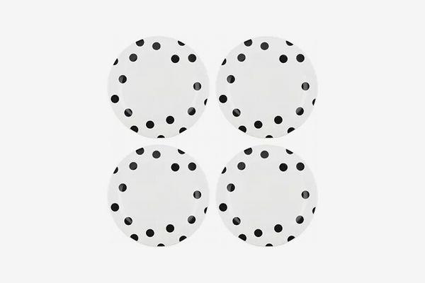 Kate Spade New York Deco Dot Set of 4 Dinner Plates