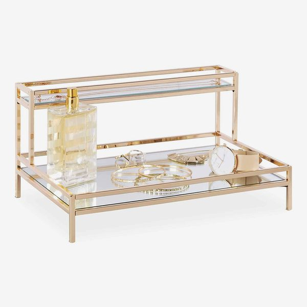 Beautify Metal Mirrored Display Tray