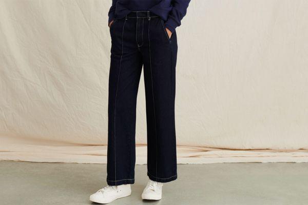 Alex Mill High Rise Trouser in Indigo Denim