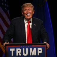 Republican Presidential Candidate Donald Trump Holds Rally In Las Vegas