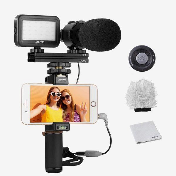 Kit de montage vidéo pour smartphone Movo V7