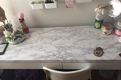 VeryBerrySticker Marble Granite Look Effect Contact Paper Self Adhesive Pre-pasted Wallpaper Shelf Liner