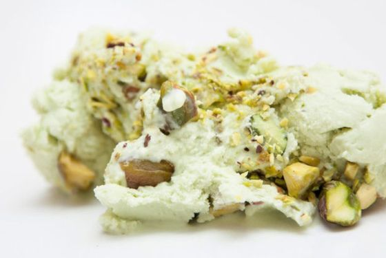 Morgenstern's green-tea-pistachio ice cream.