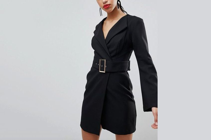 River Island Belted Tailored Dress