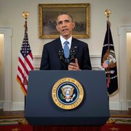 U.S. President Barack Obama speaks during an announcement in Washington, D.C., U.S., on Wednesday, Dec. 17, 2014. Obama will end the U.S. isolation of Cuba that has persisted for more than a half century, initiating talks to resume diplomatic relations, opening a U.S. embassy in Havana and loosening trade and travel restrictions on the nation. Photographer: Doug Mills/Pool via Bloomberg