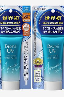 Biore Sarasara UV Aqua Rich Watery Essence Sunscreen SPF50+ PA+++ 50g (Pack of 2)