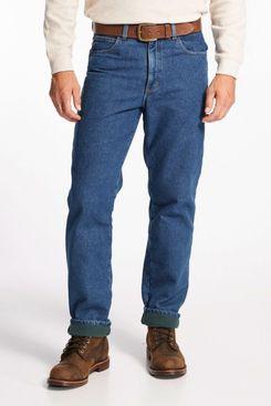 L.L.Bean Men's Double L Jeans, Fleece-Lined Classic Fit
