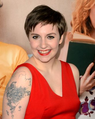 Actress Lena Dunham attends the premiere Of Universal Pictures'