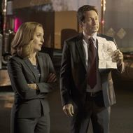 """THE X-FILES:  L-R:  Gillian Anderson and David Duchovny in the """"Mulder & Scully Meet the Were-monster"""" episode of THE X-FILES airing Monday, Feb. 1 (8:00-9:00 PM ET/PT) on FOX.  ©2016 Fox Broadcasting Co.  Cr:  Ed Araquel/FOX"""