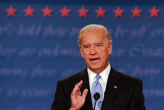 Democratic vice presidential candidate U.S. Senator Joe Biden (D-DE) speaks during the vice presidential debate at the Field House of Washington University's Athletic Complex on October 2, 2008 in St. Louis, Missouri. The highly anticipated showdown between the two vice-presidential candidates will be their only debate before the election.