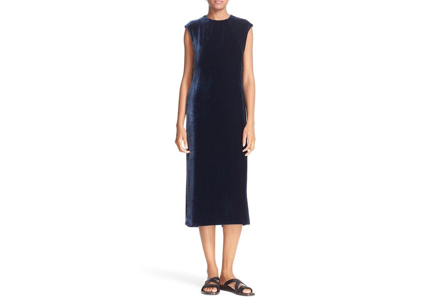 Elizabeth and James Michelle Banded Side Velvet Dress