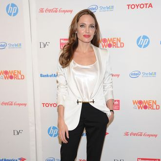 Actress Angelina Jolie attends the 3rd Annual Women in the World Summit at David H. Koch Theater, Lincoln Center on March 8, 2012 in New York City.