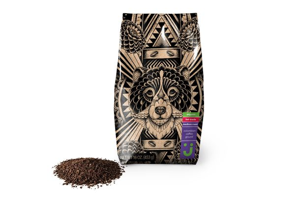 Uniquely J Colombian Ground Coffee, Organic and Fair Trade, Medium Roast, 16 Ounces