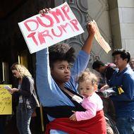 Anti-Trump Protestors Rally Outside Jimmy Kimmel Show