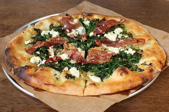 "<b>Pizza Cavolo</b>    <a href=""http://www.menupages.com/restaurants/barbuto/"">Barbuto</a>    <i>New York</i>  Jonathan Waxman started his career at Chez Panisse, where the food revolution included a radical take on pizza. He keeps the pie-eyed evolution moving on Barbuto's short lunch-only menu of small, thin-crust pies, showcasing his market savvy on locavore pizzas like the ""Cavolo,"" with kale, wild mushrooms, speck, and Fontina."