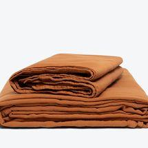 Morrow Soft Goods Classic Sheet Set Organic Matte Sateen - Terracotta (Queen)